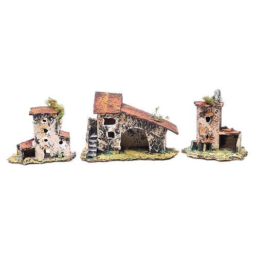 Kit maisons 7 pcs crèche Naples 7x12x7 cm 2