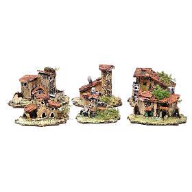 Kit of 6 houses for Neapolitan Nativity measuring 4x9x7cm s1