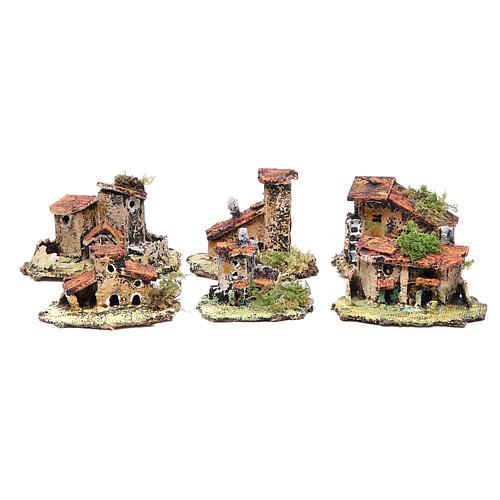 Kit of 6 houses for Neapolitan Nativity measuring 4x9x7cm 1