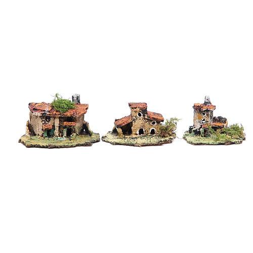 Kit of 6 houses for Neapolitan Nativity measuring 4x9x7cm 3