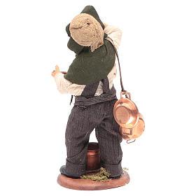 Neapolitan Nativity figurine Man with copper pans 14cm s4