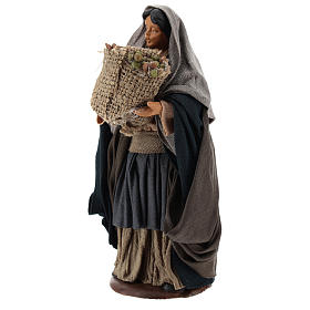 Neapolitan Nativity figurine Woman holding sack of seeds 14cm s3