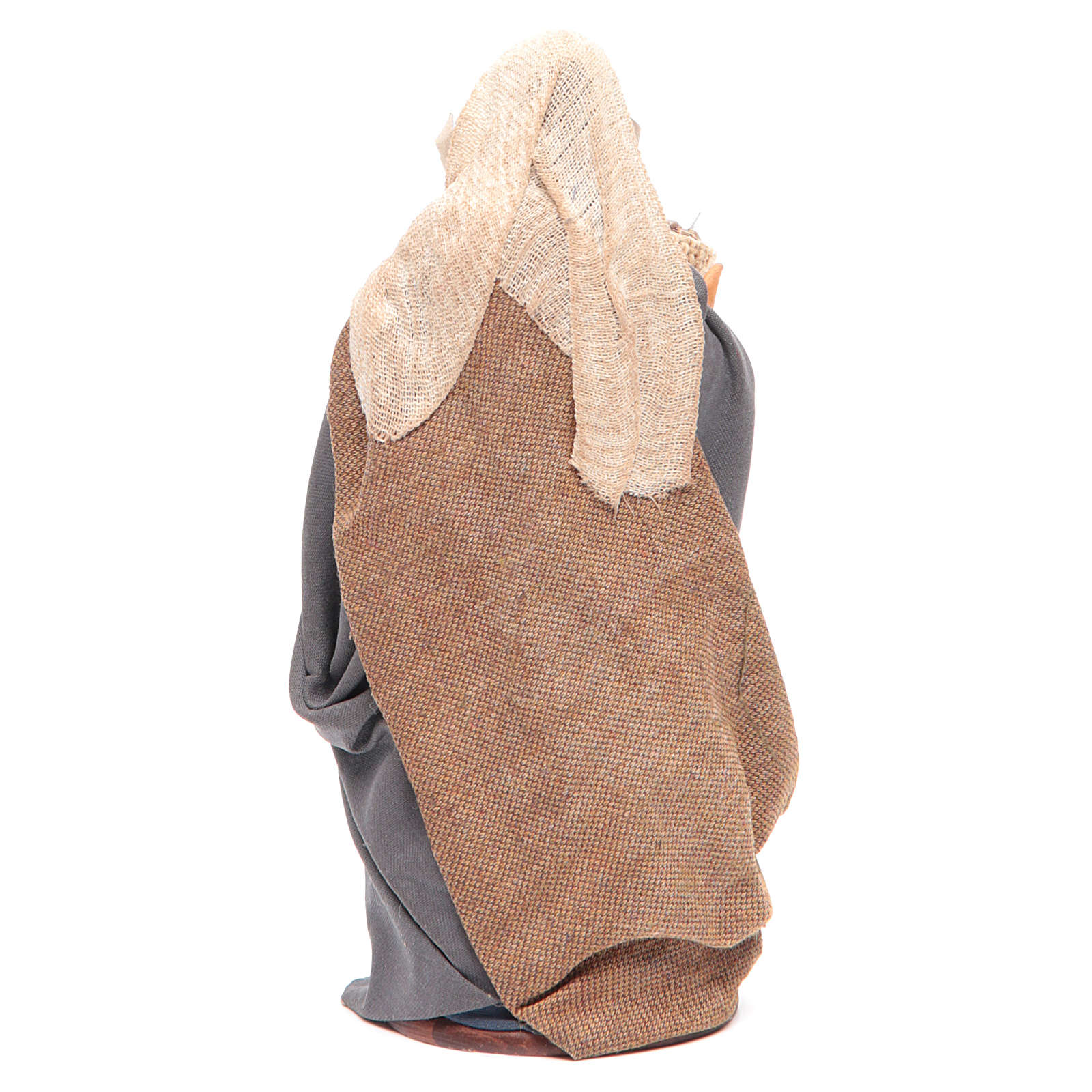 Donna con sacco di semi in mano 14 cm presepe napoletano 4