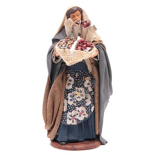 Donna con sacco di semi in mano 14 cm presepe napoletano 1