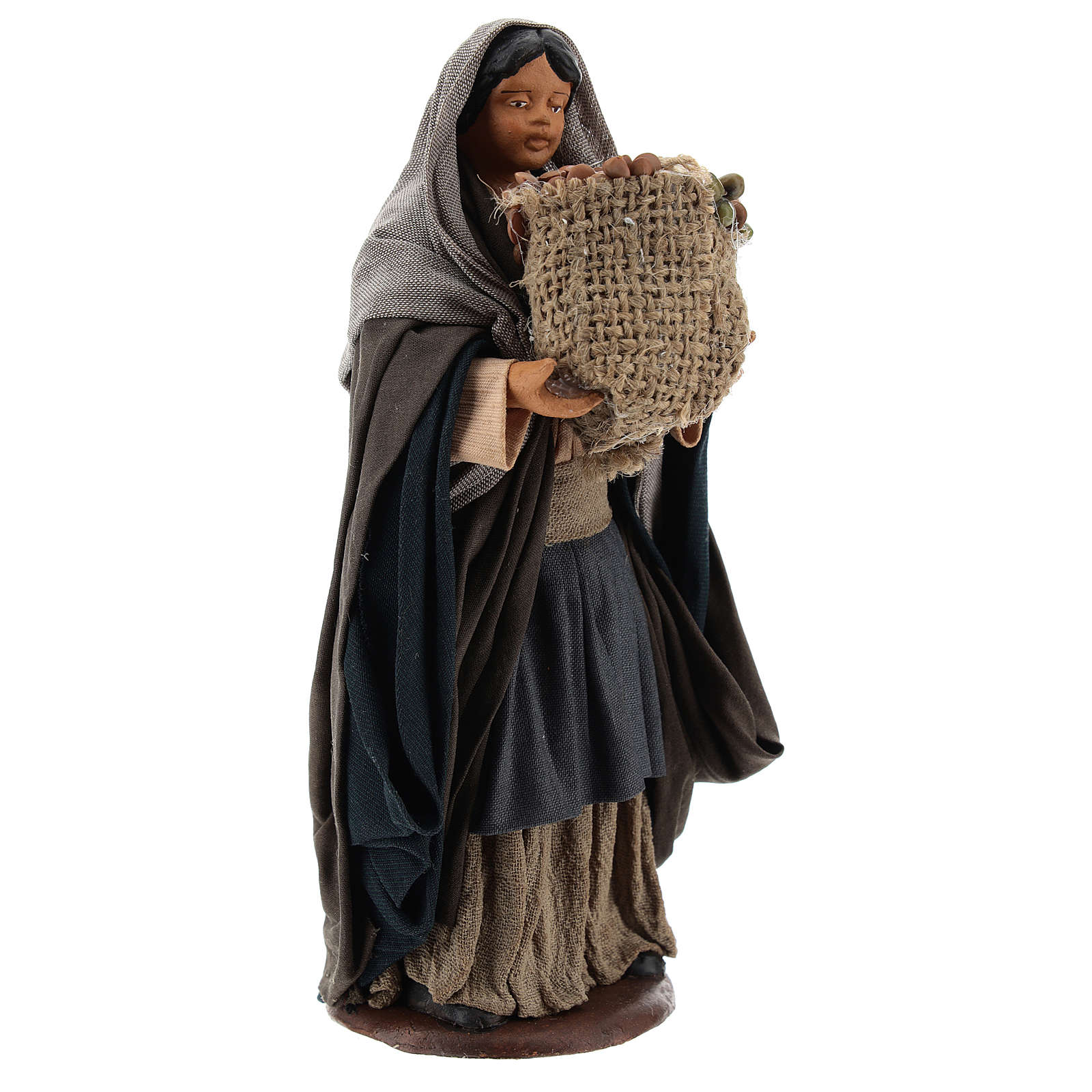 Neapolitan Nativity figurine Woman holding sack of seeds 14cm 4