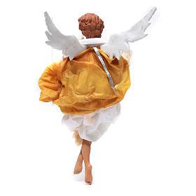 Ange blond 45 cm robe jaune crèche Naples s3