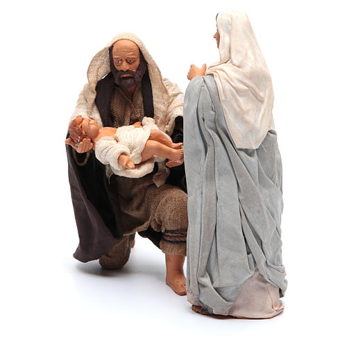 Holy Family kneeling 14cm, Neapolitan Nativity Scene 2