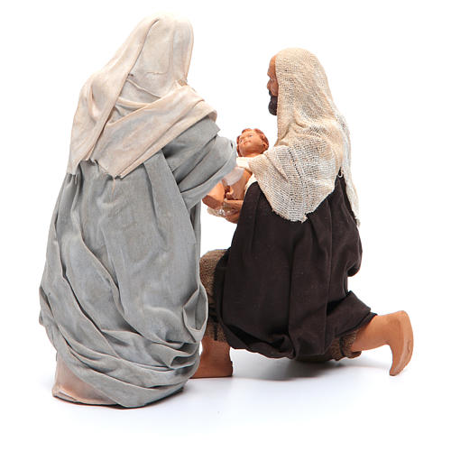 Holy Family kneeling 14cm, Neapolitan Nativity Scene 3