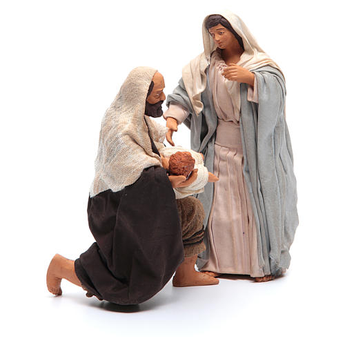 Holy Family kneeling 14cm, Neapolitan Nativity Scene 4