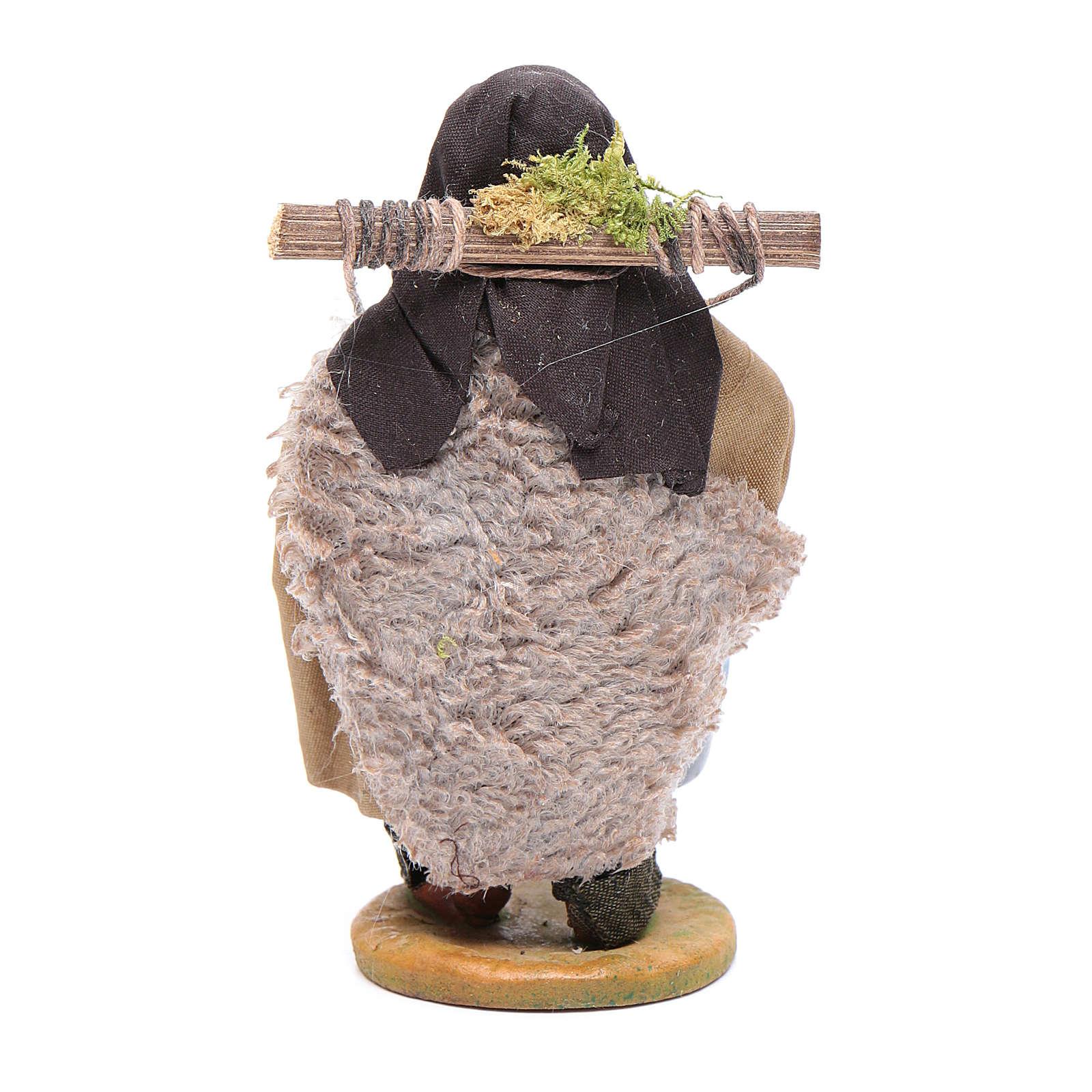Aguador con cubos de terracota 10 cm Belén napolitano 4