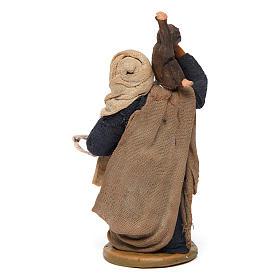 Uomo con scimmie 10 cm presepe napoletano s4