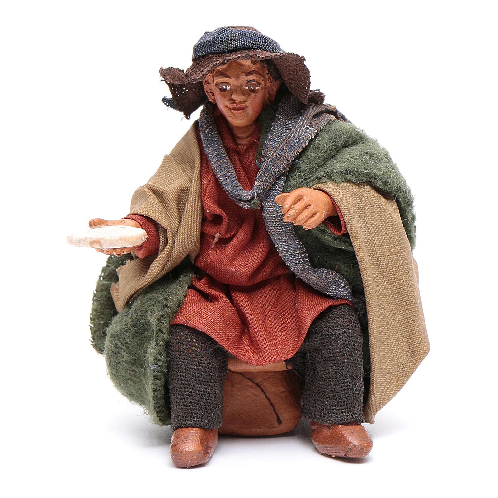 Hombre con plato para mesa 10 cm Belén napolitano 4