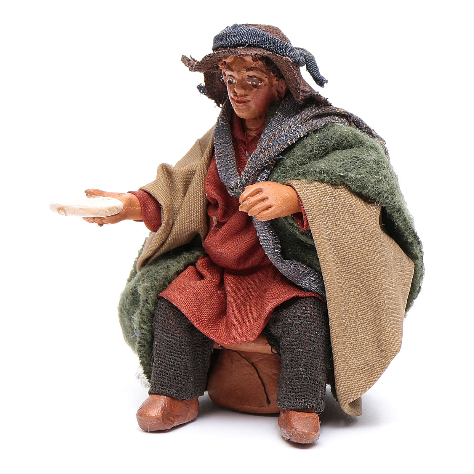 Man with dish for table 10cm, Neapolitan Nativity figurine 4