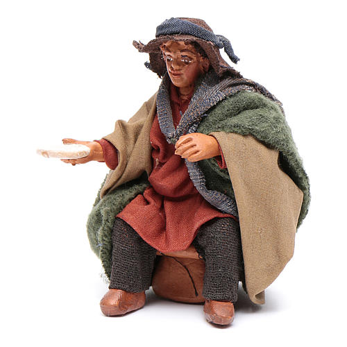 Man with dish for table 10cm, Neapolitan Nativity figurine 2