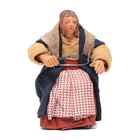 Mujer con cuchara para mesa 10 cm Belén napolitano s1