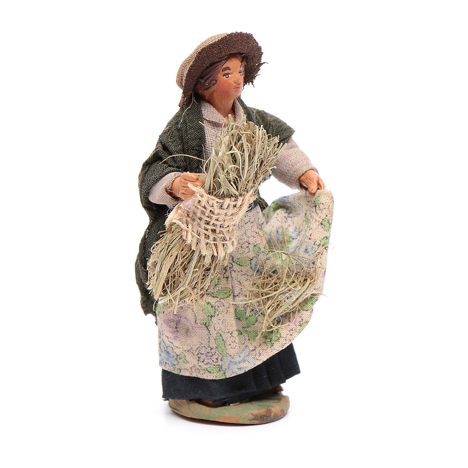 Mujer que cosecha 10 cm Belén napolitano 4