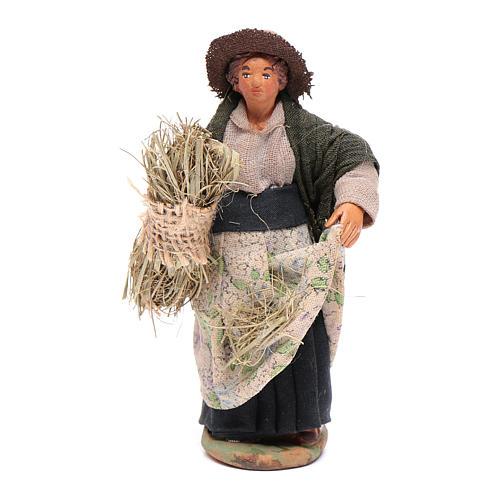 Mujer que cosecha 10 cm Belén napolitano 1