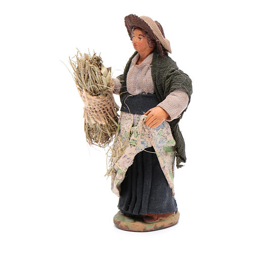 Mujer que cosecha 10 cm Belén napolitano 2