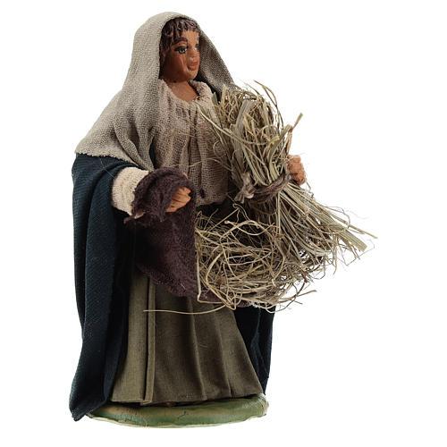 Mujer que cosecha 10 cm Belén napolitano 3