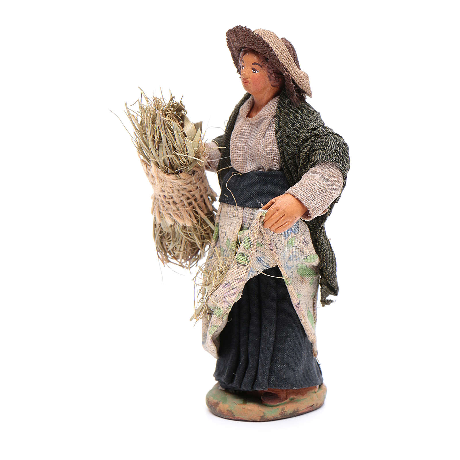 Reaper woman 10cm, Neapolitan Nativity figurine 4