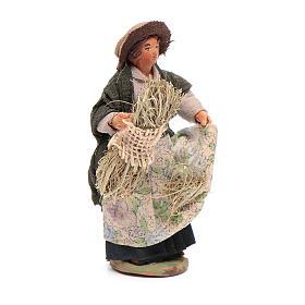 Reaper woman 10cm, Neapolitan Nativity figurine s4