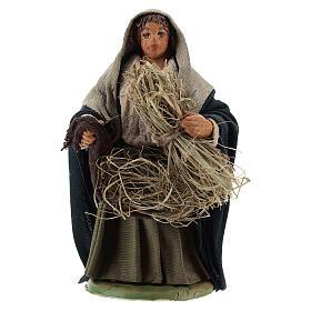 Reaper woman 10cm, Neapolitan Nativity figurine s1
