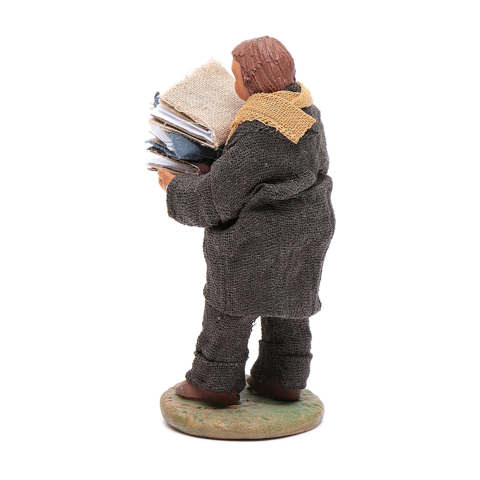 Man carryin books 10cm, Neapolitan Nativity figurine 4