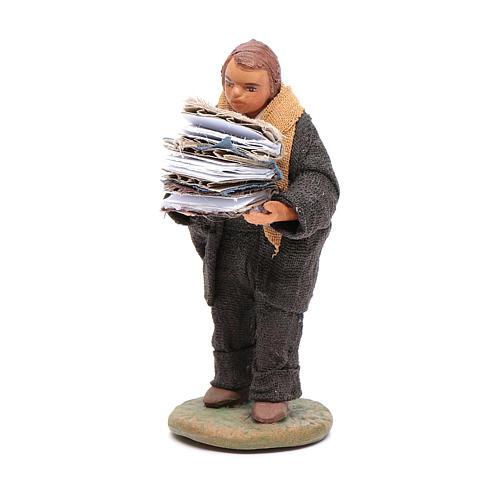 Man carryin books 10cm, Neapolitan Nativity figurine 2