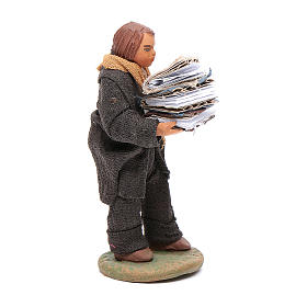 Man carryin books 10cm, Neapolitan Nativity figurine s4