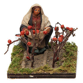 Neapolitan Nativity Scene: Tomato picker 10cm, Neapolitan Nativity figurine