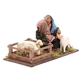 Shepherd with sheep cote 10cm, Neapolitan Nativity figurine s4