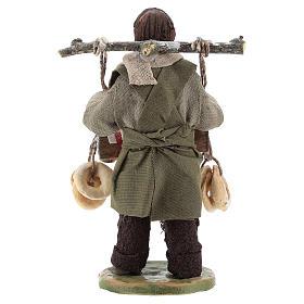 Taralli seller 10cm, Neapolitan Nativity figurine s4