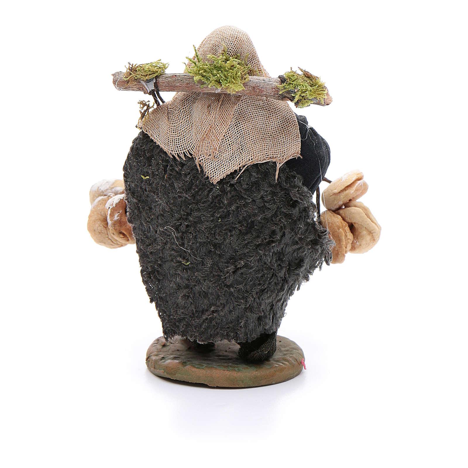 Taralli seller 10cm, Neapolitan Nativity figurine 4