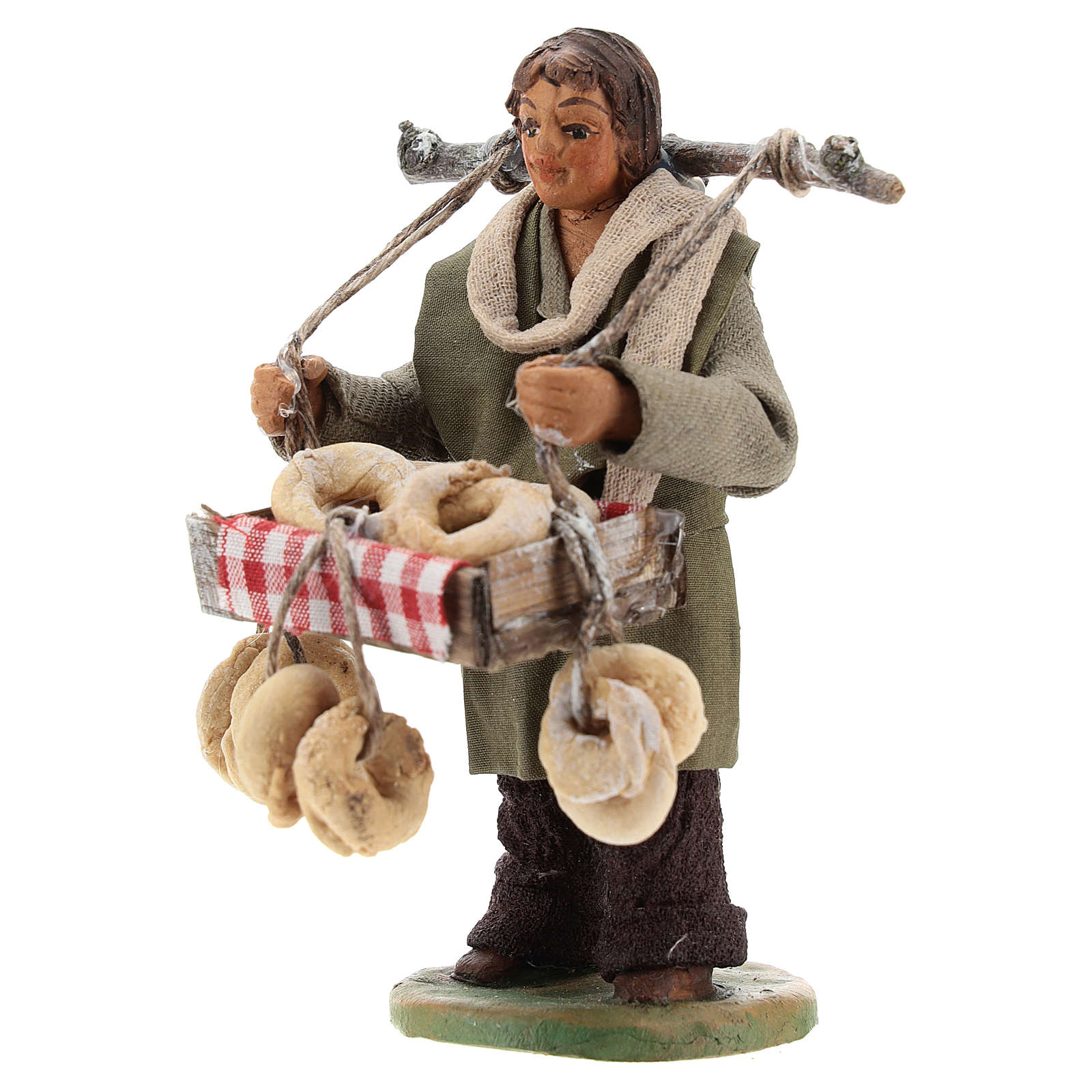 Taralli seller 10cm, Neapolitan Nativity figurine 4