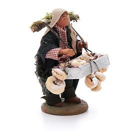 Taralli seller 10cm, Neapolitan Nativity figurine s3