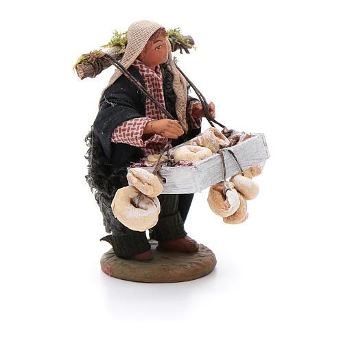 Taralli seller 10cm, Neapolitan Nativity figurine 3
