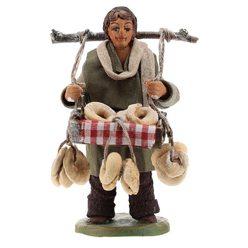 Taralli seller 10cm, Neapolitan Nativity figurine 1