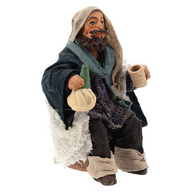 Man with flask for table 10cm, Nepolitan Nativity figurine s3