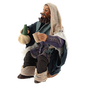 Man with flask for table 10cm, Nepolitan Nativity figurine s2