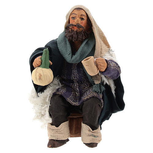 Man with flask for table 10cm, Nepolitan Nativity figurine 1