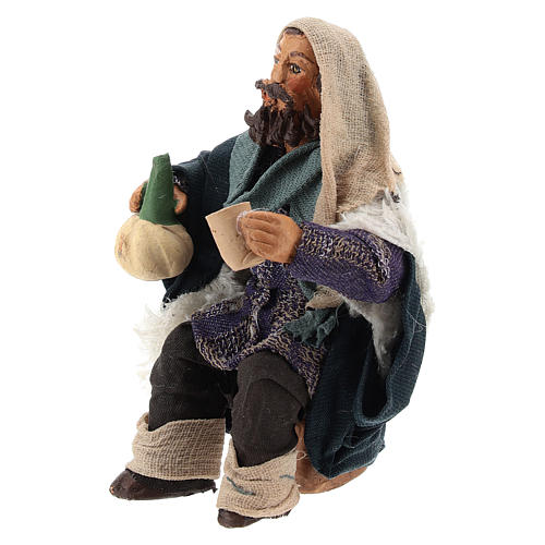 Man with flask for table 10cm, Nepolitan Nativity figurine 2