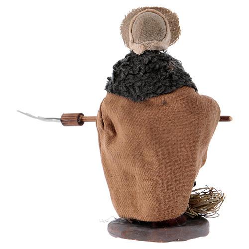 Agriculteur avec fourche 10 cm crèche Naples 3
