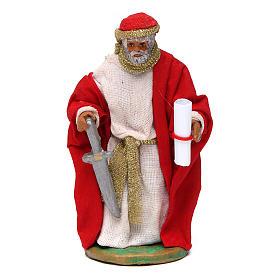 King Herod 10cm Neapolitan Nativity figurine s1