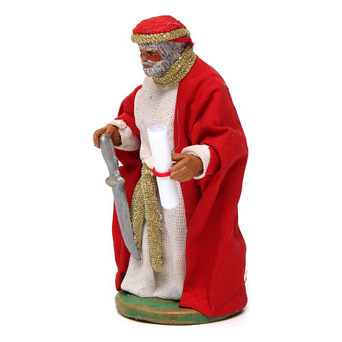 King Herod 10cm Neapolitan Nativity figurine 2