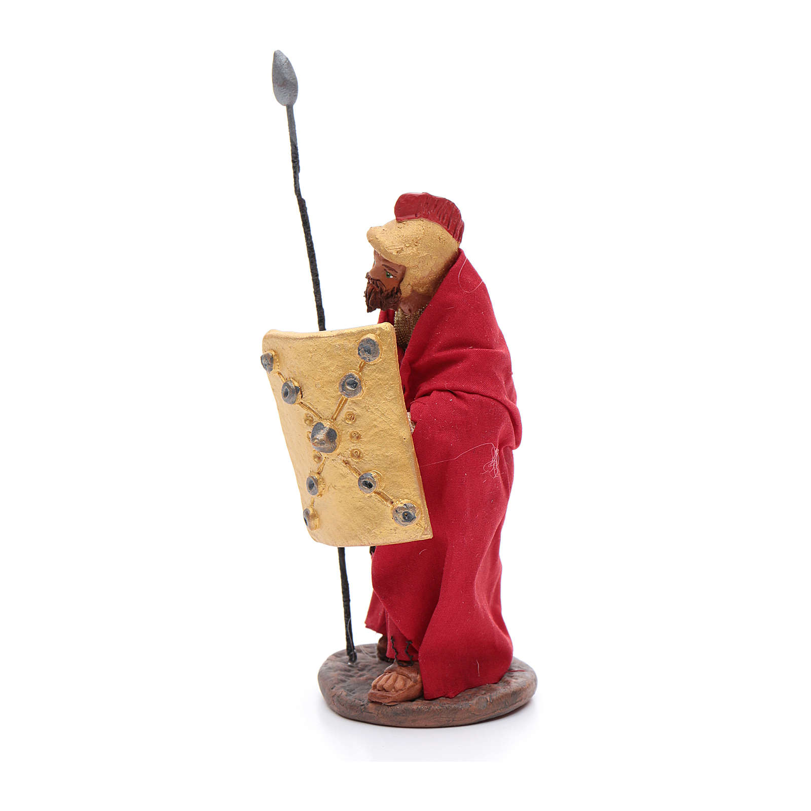 Soldier with lance 10 cm Neapolitan Nativity figurine 4