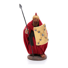 Soldier with lance 10 cm Neapolitan Nativity figurine s1