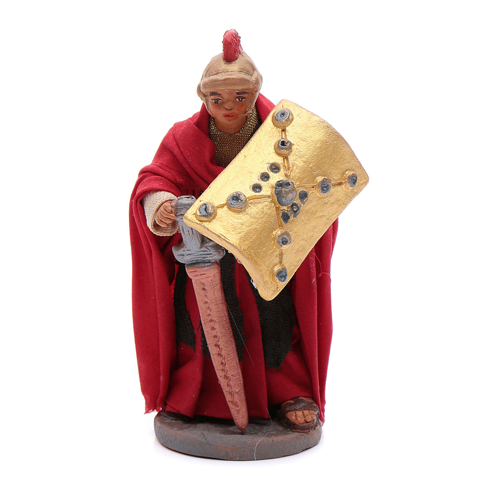 Soldier with sword 10 cm Neapolitan Nativity figurine 4