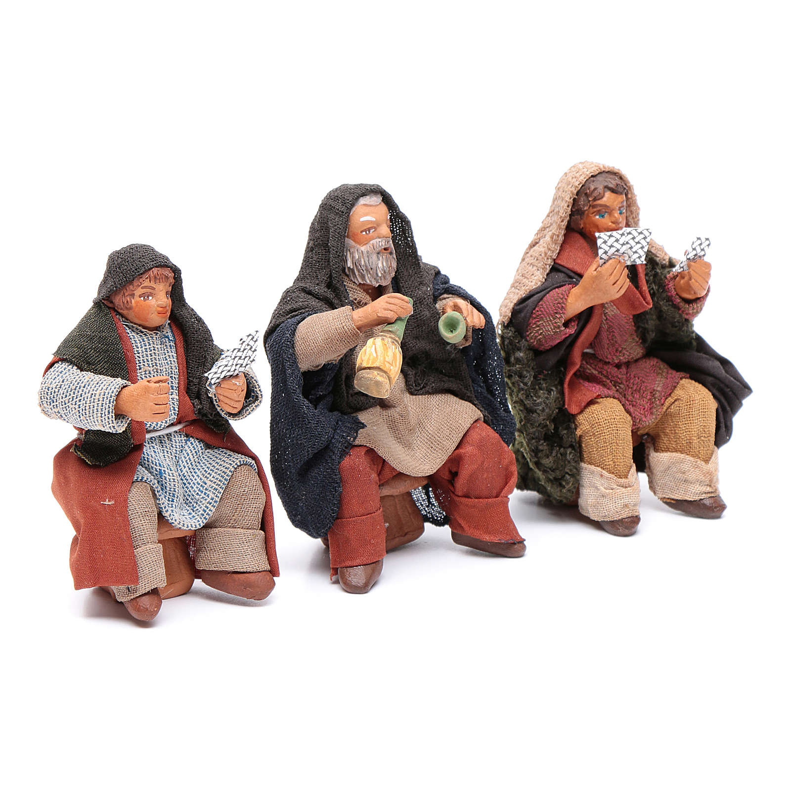 Cards players 3 figurines 10cm, Nativity Scene 4