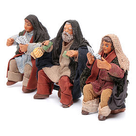 Cards players 3 figurines 10cm, Nativity Scene s2
