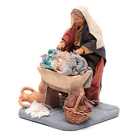 Washwoman 10cm, Nativity figurine s2